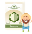 pack cauliflower seeds icon vector image vector image