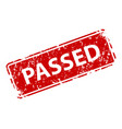passed sign sticker stamp texture vector image