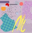 pastel art applique with geometric elements vector image vector image