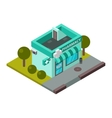 pharmacy isometric building isolated vector image vector image