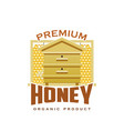 premium honey product hive honeycomb icon vector image vector image