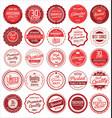 premium quality retro vintage labels collection 2 vector image vector image