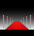 red carpet event silver barriers background vector image