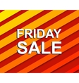 Red striped sale poster with FRIDAY SALE text vector image vector image