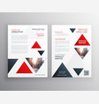 red triangle modern business brochure flyer vector image vector image