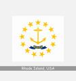 rhode island usa state flag ri usa vector image