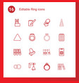 ring icons vector image vector image