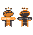 rugfootball badge vector image