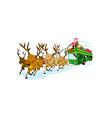 Santa Claus Driving Bus vector image vector image
