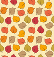 Seamless Texture of Autumn Leaves Bright vector image vector image