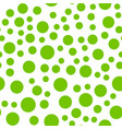 seamlessly repeatable pattern with random green vector image vector image