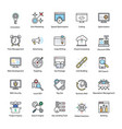 search engine and optimization pro icons vector image vector image