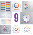 set 9 universal templates elements infographics vector image vector image