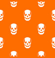 skull pattern seamless vector image vector image
