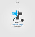 stethoscope logo for medical and pharmaceutical vector image vector image