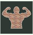 strong man of bricks vector image vector image