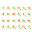 stylized 24 business office and website icons vector image vector image