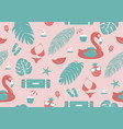 summer seamless pattern design vector image