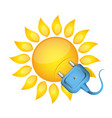 sun and electrical outlet vector image vector image