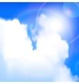 sun shines vector image
