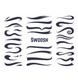 swooshes and swashes underline swish tails vector image