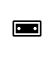 Tape Icon Flat vector image