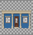 traditional small shop facade vector image