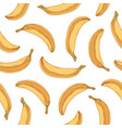 tropical seamless pattern with whole banana fruits vector image vector image