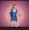 warrior princess in costume party in spotlight vector image vector image