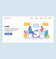web site gradient design template two vector image
