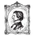 william h seward vintage vector image vector image