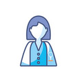 woman scientific profession research fill style vector image