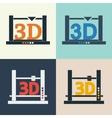 3D printer icons set vector image