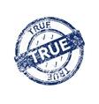 true blue grunge round vintage rubber stamp vector image