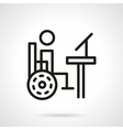 Disability distance education line icon vector image