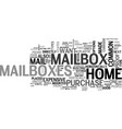a quick guide to home mailboxes text word cloud vector image vector image