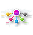 abstract business infographics step options vector image vector image