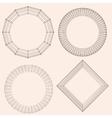 Abstract decorative frame Mesh poligonal vector image vector image