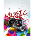abstract music background design vector image vector image