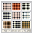 abstract retro patterns set textile background vector image