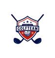 american golf with shield emblem badge logo design vector image