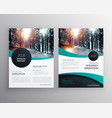 annual report brochure flyer design leaflet cover vector image vector image