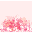 beautiful pink background with abstract flowers vector image vector image