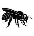 bee icon black color flat style simple image vector image vector image