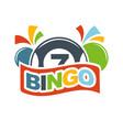 bingo lottery lucky balls numbers of lotto win vector image