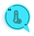 black line meteorology thermometer measuring icon vector image vector image