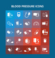 blood pressure icons vector image