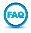 Blue faq icon vector image