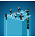 Business work group success levels people vector image vector image