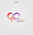 care heart health logo vector image vector image
